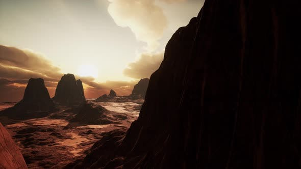 Thumbnail for Amazing Sandstone Formations in Famous Sunset at Monument Valley