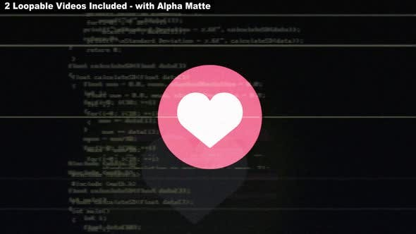 Glitch Heart Emoji Package