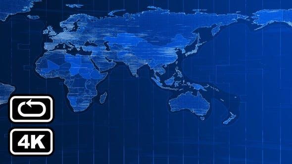 News World Map Front Bg Loop 4k V2