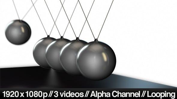 Newton's Cradle Pendulum Balls - Series Of 3 Loop