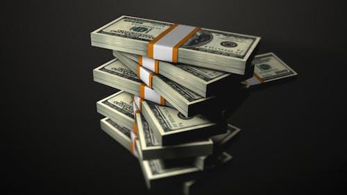 Money / Stacked Dollars Falling