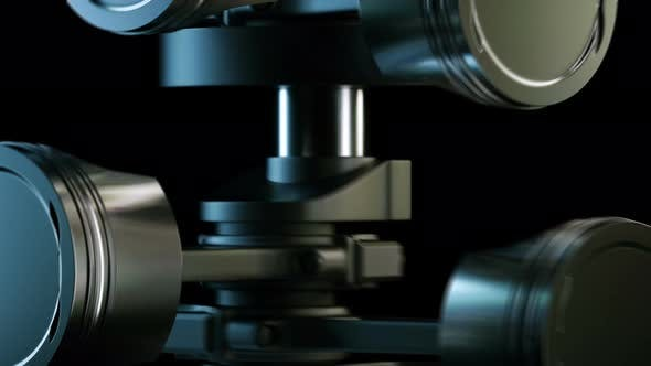 Working V8 Engine in Slow Motion.