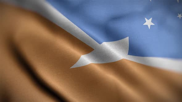 Tierra Del Fuego Province Argentina Flag Textured Waving Close Up Background HD