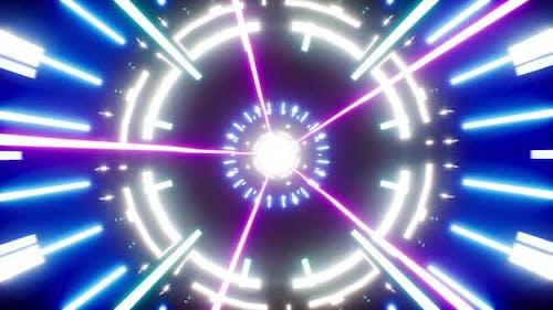 Cyber Leuchtende Strahlen 4K Schleife