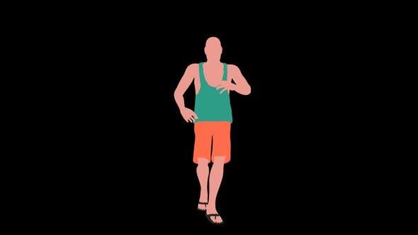 2d Holidaymaker Guy Dancing