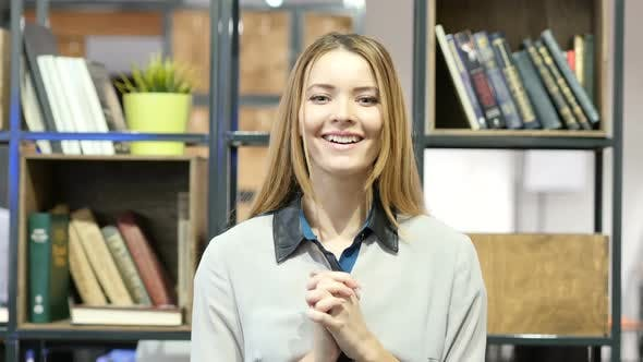 Thumbnail for Amazed by Surprise, Happy Business Woman