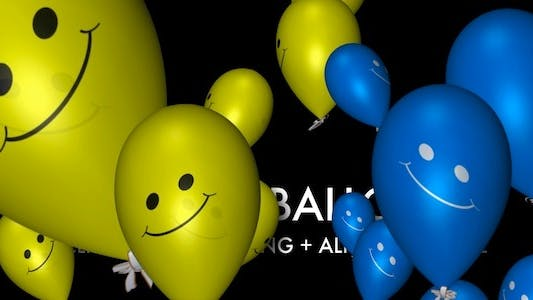 Thumbnail for Smiley Balloons (3-Pack)