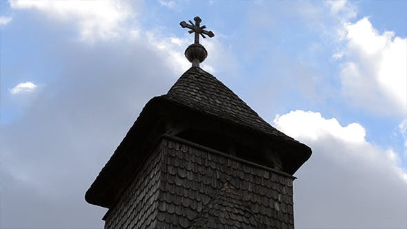Thumbnail for Wooden Church Cross Steeple Timelapse