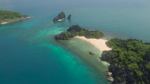 Seascape of Caramoan Islands, Camarines Sur, Philippinen