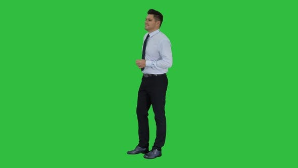 Thumbnail for Businessman is counting money on a Green Screen, Chroma Key.