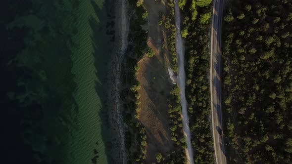 Thumbnail for Sea Coast with Road Leading To the Town, Greece