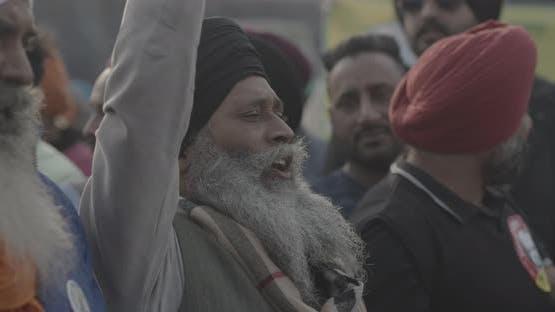 Indian farmer at Farmer's protest New Delhi, India