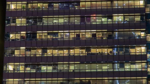Thumbnail for Empty Office Windows Time Lapse China. Zoom Out