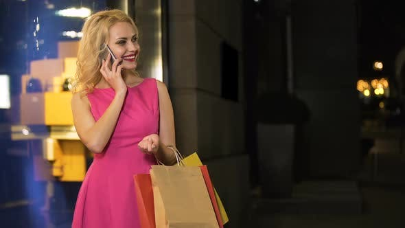 Thumbnail for Cunning Girl Flirting with Her Boyfriend on Phone, Asking Money for New Dress