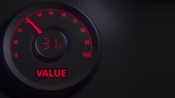 Thumbnail for Red and Black Value Meter or Indicator