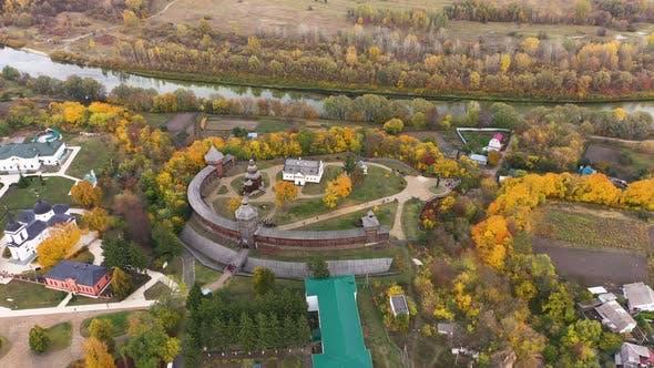Baturin Fortress with the Seym River in Chernihiv Oblast of Ukraine