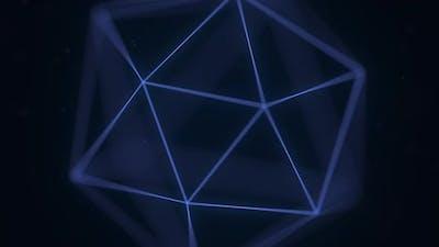 Blue Polygonal Solid