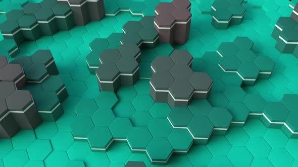 Hexagon Green 3D
