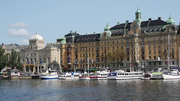 Cruise ships in Östermalm Stockholm