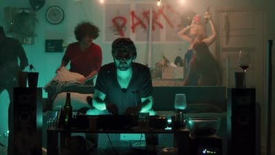 DJ Working During Party in Living Room