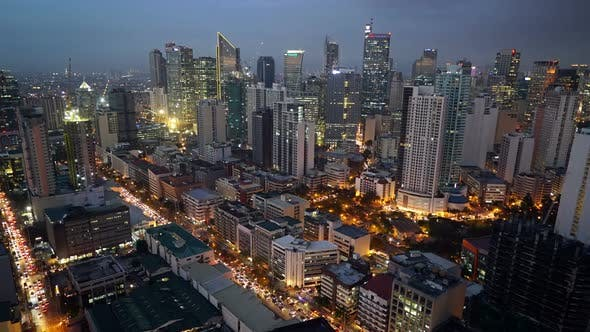 Thumbnail for Manila, Makati District Philippines Skyline