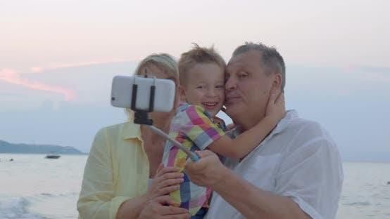 Happy Selfie with Grandparents