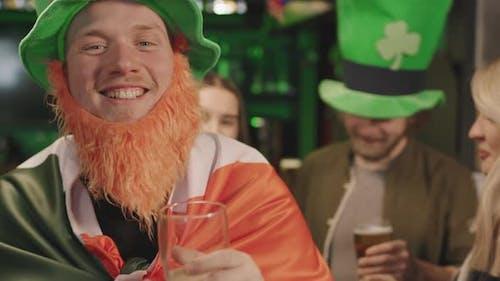 Funny Man Dancing In Pub