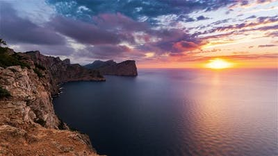 Formentor Spain Timelapse / The Shore of Formentor at Sunset