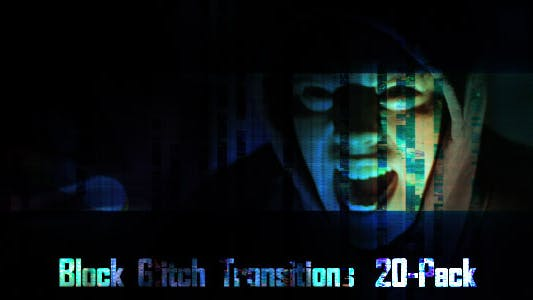 Glitch Transitions (20-Pack) от AlexanderChapaev on Envato