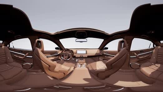 Thumbnail for VR 360 Camera Moving Inside Detailed Car Interior