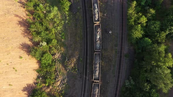 Freight Train Carrying Ore