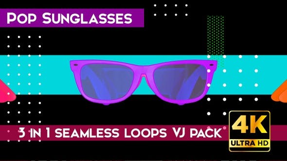 Pop Sunglasses VJ Loops