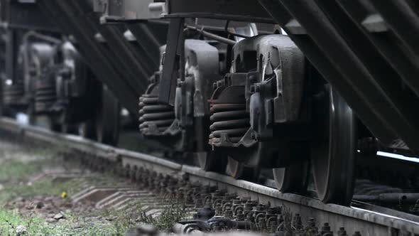 Thumbnail for Train Wheel Close Up on Railway Track