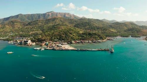 Sea Port on the Island of Busuanga PhilippinesCoron