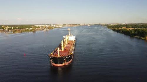 Big ship on the river