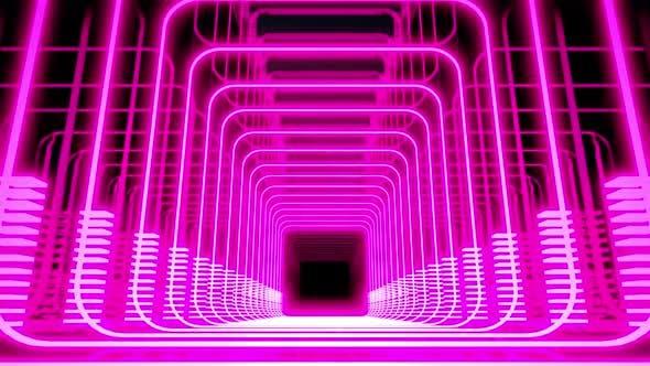 Thumbnail for Cyberpunk-Licht auf Tunnel-Bühne HD