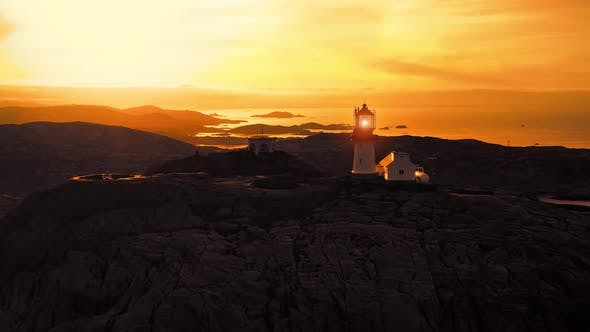 Thumbnail for Coastal Lighthouse. Lindesnes Lighthouse Is a Coastal Lighthouse at the Southernmost Tip of Norway