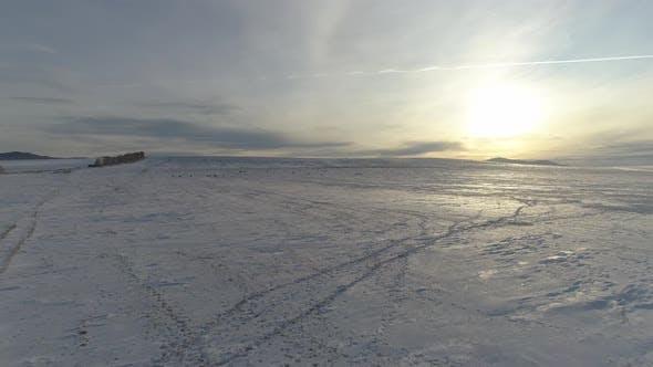 Thumbnail for Flying over Winter Landscape