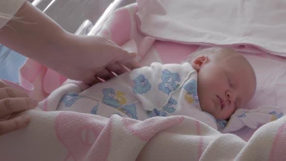 Thumbnail for Sleeping Newborn Baby in Maternity Hospital