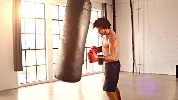 Thumbnail for Athletic Male Boxing Slow Motion