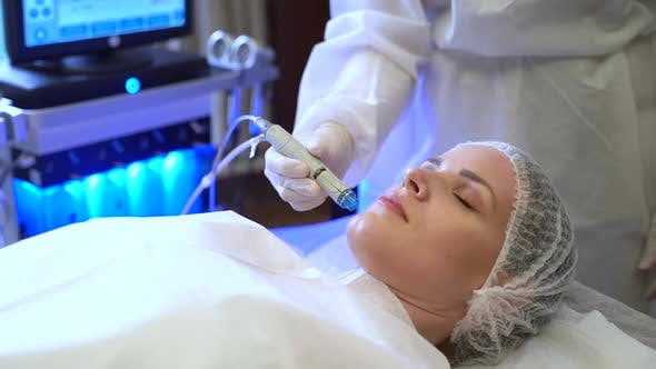 Facial Treatment in a Beauty Parlor