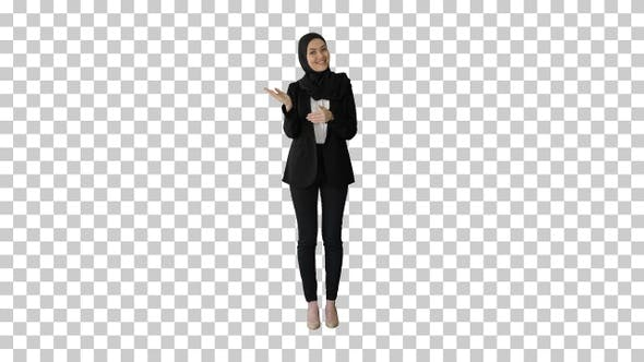Thumbnail for Confident young muslim business woman, Alpha Channel