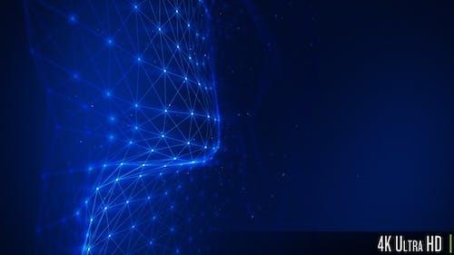 4K Concept of a Futuristic Plexus Technology Network