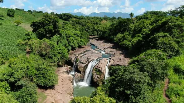 Thumbnail for Malacatiupan Waterfalls Awesome Aerial