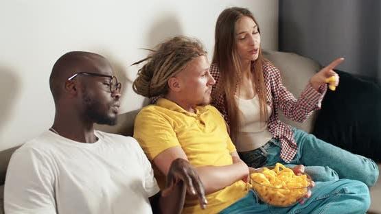 Watching a TV