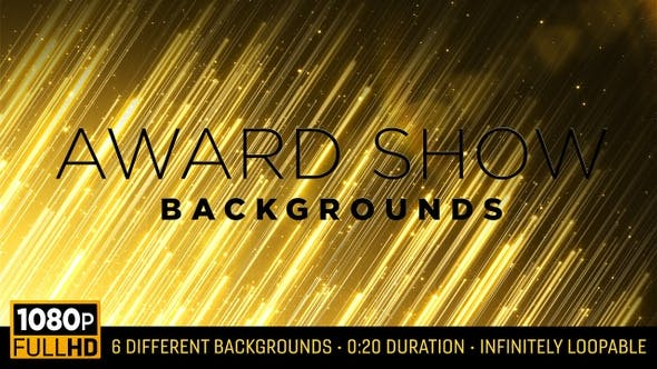 Award Show Backgrounds HD (6-pack)