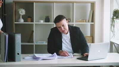 Work Stress Overwork Fatigue Business Woman Office