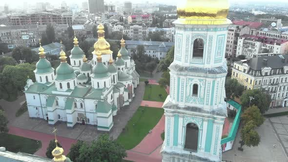 Thumbnail for Saint Sophia's Cathedral in Kyiv, Ukraine. Aerial View