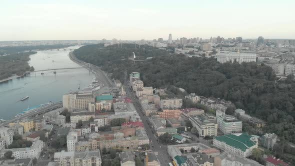 Thumbnail for Kyiv, Ukraine. Podil District. Aerial View