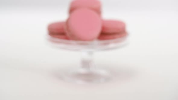Thumbnail for Pink Macarons on Glass Confectionery Stand
